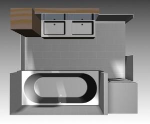 ontwerp nieuwe badkamer
