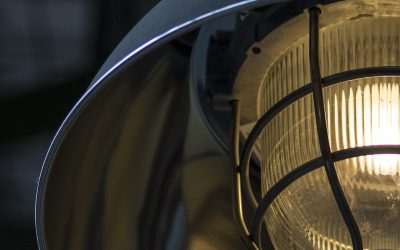 stoere industriële lamp