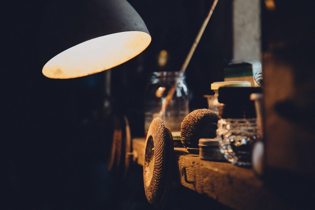 stoere industriele lamp