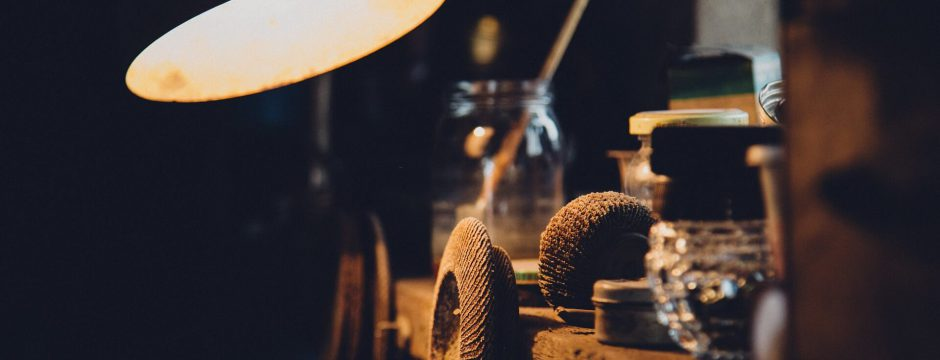 industriële lamp in huis